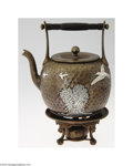 Silver Holloware, American:Hot Water Kettles , Gorham: AN AMERICAN MIXED METAL KETTLE ON STAND (Gorham)