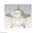 Silver Holloware, American:Other , Gale & Son: AN AMERICAN COIN SILVER BUTTER TUB (Mark of Gale...