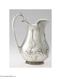 Silver Holloware, American:Pitchers, Gorham: AN AMERICAN COIN SILVER WATER PITCHER (Mark of ...