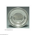 Silver Holloware, American:Plates, AN AMERICAN SILVER PLATE