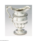 Silver Holloware, American:Coin Silver, AN AMERICAN SILVER WATER PITCHER