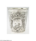 Silver Holloware, Continental:Holloware, A RUSSIAN SILVER ENGRAVED BEAKER (Russian silver marks)