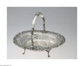 Silver Holloware, English:Holloware, A GEORGE II PIERCED SILVER BASKET