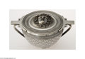 Silver Holloware, Continental:Holloware, G. Melillo: AN ITALIAN COVERED SILVER BOWL GIACINTO MELILLO (...