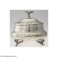 Silver Holloware, Continental:Holloware, A FIGURAL CONTINENTAL SILVER TEA CADDY (Maker unknown, ...