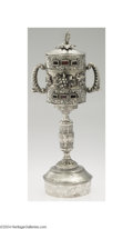 Silver Holloware, Continental:Holloware, A SILVER JUDAICA TRAVELING WORSHIP SET
