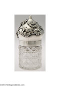 Silver Holloware, American:Other , Shiebler: AN AMERICAN SILVER AND CUT-GLASS CHRYSANTHEMUM ...