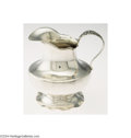 Silver Holloware, American:Creamers and Sugars, AN AMERICAN SILVER FLORA PATTERN CREAMER