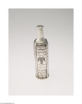 Silver Holloware, American:Other , AN AMERICAN SILVER TROMP L' OEIL COLOGNE BOTTLEMark of ...