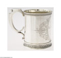 Silver Holloware, American:Cups, Wood & Hughes: AN AMERICAN SILVER CUP WITH BIRDS AND ...