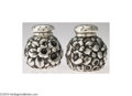 Silver Holloware, American:Other , Shiebler: AN AMERICAN SILVER PAIR OF REPOUSSE SALT AND ...