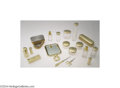 Silver Smalls:Other , AN AMERICAN SILVER GILT TRAVELLING VANITY SET (Various ... (19Items)