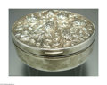 Silver Holloware, Continental:Holloware, A SILVER STRAWBERRY MOTIF VANITY BOX