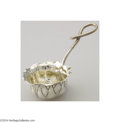 Silver Holloware, American:Tea Sets, Shiebler: AN AMERICAN SILVER AESTHETIC MOVEMENT TEA STRAINER ...