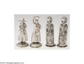 Silver Smalls:Other , TWO PAIR OF FIGURAL SILVER SALT AND PEPPER SHAKERS (Maker ...