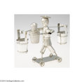 Silver Smalls:Other , A FIGURAL SILVER SALT AND PEPPER CADDY