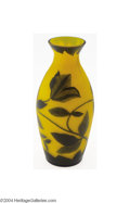 Art Glass:Other , Richard: AN OVERLAID AND ETCHED GLASS VASE (Richard)
