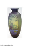 Art Glass:Muller, Muller Freres: AN OVERLAID AND ETCHED GLASS VASE (Muller Frè...