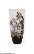 Art Glass:Other , Arsall: AN OVERLAID AND ETCHED GLASS VASE (Arsall)