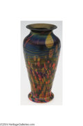 Art Glass:Other , Fenton: A MOSAIC THREADED GLASS VASE (Fenton)