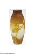 Art Glass:Galle, Emile Galle: AN OVERLAID AND ETCHED GLASS VASE (Emile Galle) ...