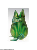 Art Glass:Loetz, Loetz: AN IRIDESCENT FIGURAL GLASS FROG