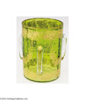 Art Glass:Other , Moser: AN INTAGLIO CUT GLASS THREE-HANDLED LOVING CUP (Moser)...
