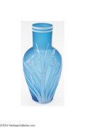 Art Glass:Webb, Thomas Webb and Sons: AN OVERLAID AND ETCHED GLASS VASE (...
