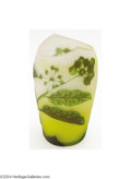 Art Glass:Other , Richard: AN OVERLAID AND ETCHED CABINET GLASS VASE (Richard) ...