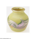 Art Glass:Tiffany , Tiffany: AN AMERICAN FAVRILE GLASS CABINET VASE (Tiffany)