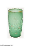 Art Glass:Daum, AN ETCHED AND ENAMELED TUMBLER