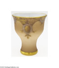 Art Glass:Other , Mont Joye: AN OVERLAID AND ETCHED GLASS VASE (Mont Joye)