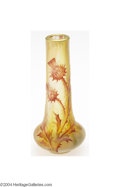 Art Glass:Daum, Daum Nancy: AN OVERLAID AND ETCHED GLASS CABINET VASE (Daum ...