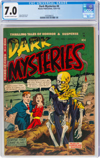 Dark Mysteries #4 (Master Publications, 1952) CGC FN/VF 7.0 Off-white to white pages