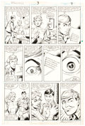 Original Comic Art:Panel Pages, Steve Ditko and Bruce Patterson Speedball #3 Story Page 7 Original Art (Marvel, 1988)....