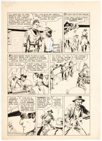 John Severin Fargo Kid Unspecified Issue Story Page 3 Original Art (Prize Publ., 1958).<