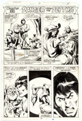 Original Comic Art:Panel Pages, John Buscema and Klaus Janson Tarzan #18 Story Page 9 Original Art (Marvel, 1978)....