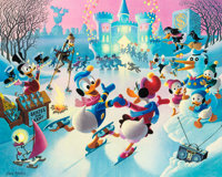 Carl Barks Mardi Gras Before the Thaw Signed Limited Edition Lithograph Print #10/350 (Another Rainbow, 1992)