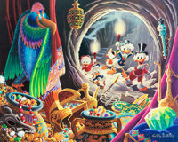 Carl Barks Dangerous Discovery Signed Limited Edition Lithograph Print #10/350 (Another Rainbow, 1993)