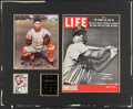 Autographs:Photos, Roy Campanella Display with Signed Photo and LIFE magazine....