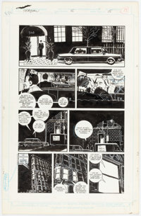 Kyle Baker The Shadow #8 Story Page 15 Original Art (DC, 1988)