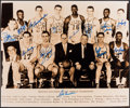 Autographs:Photos, 1959 Boston Celtics Team Signed Oversized Photograph (13 Signatures)....