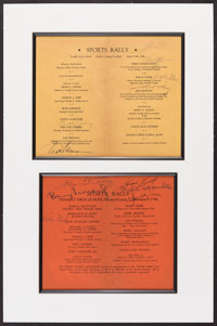 "1946 ""Sports Rally"" Multi-Signed Program Display (12 Signatures)"