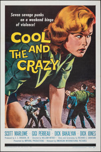 """The Cool and the Crazy (American International, 1958). Folded, Very Fine/Near Mint. One Sheet (27"""" X 41"""") &..."""