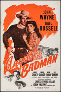 "Movie Posters:Western, Angel and the Badman (Republic, R-1959). Folded, Very Fine-. One Sheet (27"" X 41""). Western.. ..."