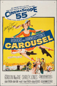 "Carousel (20th Century Fox, 1956). Folded, Very Fine-. Autographed One Sheet (27"" X 41""). Musical"