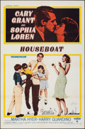 """Movie Posters:Comedy, Houseboat (Paramount, 1958). Folded, Very Fine+. Autographed One Sheet (27"""" X 41""""). Comedy.. ..."""