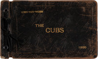 """1930 Chicago Cubs Signed Photograph Album Belonging to Lewis """"Hack"""" Wilson"""