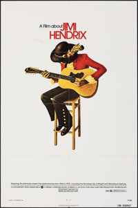"Jimi Hendrix (Warner Bros., 1973). Folded, Very Fine. One Sheet (27"" X 41""). Rock and Roll"
