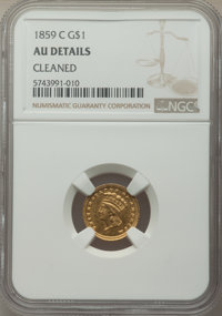 1859-C G$1 -- Cleaned -- NGC Details. AU. Variety 1. ...(PCGS# 7552)
